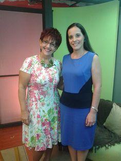 Durante las grabaciones en TV familia Programa Habiliades con Raquel, y la tan estimada presentadora Raquel Di Battista