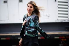 Nina Garcia, Street Style: NYFW 2013