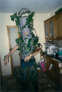 Make yourself a Tree costume for a fancy dress party of Halloween, something unique and different and stand out from the crowd. This homemade Tree costume was Tree Fancy Dress Costume, Tree Costume, Homemade Costumes, Ladder Decor, Wreaths, Halloween, How To Make, Dresses, Vestidos