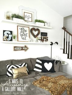 6 ways to accessorize a gallery wall - Wall Decor Living Room