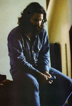 "onlovestreetwithjimmorrison: ""Bearded Jim Morrison. "" Taken during the LA Woman recording sessions."