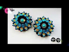 Красивые цветочки на зажиме/МК/ Своими руками/ Beautiful flowers on the clip - YouTube