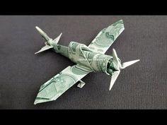 Zero Fighter Plane - Money Origami - Dollar Bill Art - YouTube