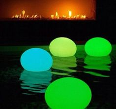 Glow in the dark balloons!! Put glow sticks in a ballon and blow it up then you could put them in a pool hang it somewhere etc.