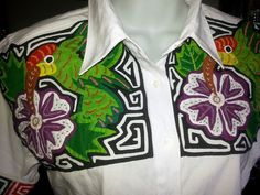 Blusas de Mola Panama Canal, Mantra, Textiles, Embroidery, My Love, Jackets, Fashion, Folklore, Nightgown