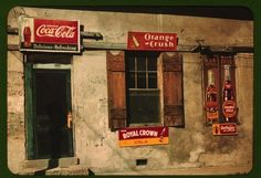 Colour Photographs of American Store Fronts, 1940s