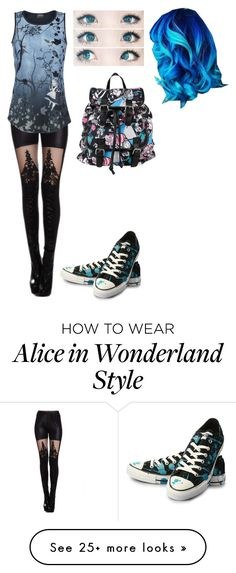 """""""Untitled #177"""" by bandom-stuff on Polyvore featuring Converse and Disney"""