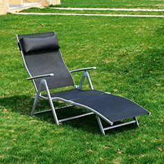 Outsunny Patio Reclining Chaise Lounge Chair with Cushion - Black and Silver Outsunny http://www.amazon.com/dp/B01CYM28DS/ref=cm_sw_r_pi_dp_IgD8wb1Q2KMJF