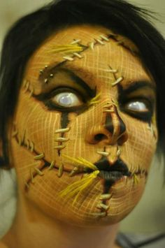 Halloween scarecrow makeup | Makeup Inspiration | Pinterest ...