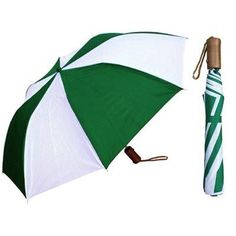 $3.71 -- Wholesale Auto-Open Deluxe Umbrella - Two- Tone Colors with Wood Handle