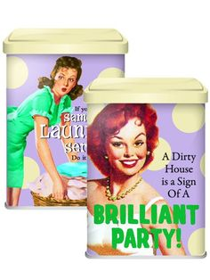 Washing Powder Tin - Same day laundry service/A dirty house Half Moon Bay, Downstairs Loo, Laundry Service, Dose, Kitchen Storage, Funny Gifts, Bath And Body, Storage Chest, Party