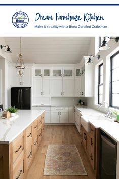 The farmhouse kitchen will never go out of style. Get the look, like this white oak floor with Bona Ultra Matt Finish, with the help of a Bona Certified Craftsman. Photo: Gowler Homes Home Kitchens, Rustic Kitchen, Kitchen Design, Kitchen Inspirations, Kitchen Renovation, Home Remodeling, New Kitchen, Home Decor Kitchen, Home Decor
