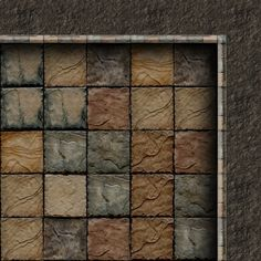 Dundjinni Mapping Software - Forums: ProBono Dungeon Tiles (some new tiles) Dungeon Tiles, Dungeon Maps, Fantasy Map, Medieval Fantasy, Tabletop Rpg, Tabletop Games, Rpg Map, Grid, Adventure Map
