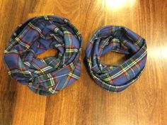 Daddy and Me Infinity Scarves Set plaid flannel by SissyandTodo