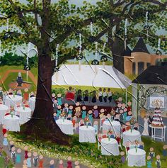 Live Event Painting | Color Me Nola  | Kristy Oustalet | Weddings | New Orleans | Baton Rouge  | UL Alumni House