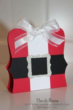 Top Note Santa Belly - Schoko-Goodies für Weihnachten (Alternative: Spellbinders-labels#1)