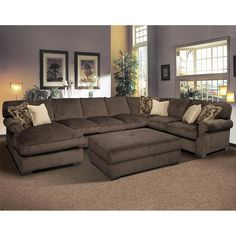 Sectional sofa and ottoman, my dream couch for the family room...will have someday!