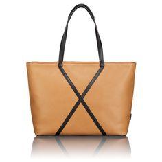 Leather tote bag, Tumi