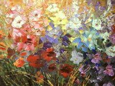 "Palette knife flower painting in progress by Tatiana Iliina ""A Fly in Sugar"". - YouTube"