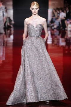 Perfectly sparkly Elie Saab couture