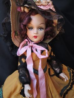 Ultra rare MADAME ALEXANDER composition PORTRAIT DOLL - Scarlett - estate fresh