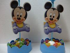 Centro de mesa do Mickey Baby