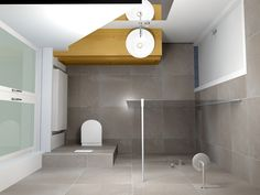 Here is a little shower room style that claimed that genuinely meets a simple, minimalist, contemporary and also glamorous indoor design. Small Bathroom Layout, Modern Bathroom Design, Guest Bathrooms, Large Bathrooms, Bad Inspiration, Bathroom Inspiration, Bathroom Toilets, Bathroom Fixtures, Apartment Interior