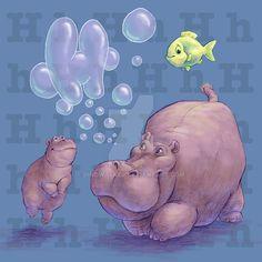Hippo by dinowalker