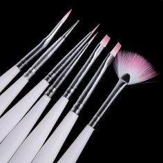 7 PCS Nail Art Design Brush Pen Acrylic Nail Tips Set by KBazaar, $5.90