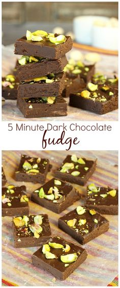 Need a homemade holiday gift or treats for a party, 5 Minute Dark Chocolate Fudge is effortless and out-of-this-world good!