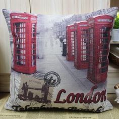 London Telephone Booth Cushion