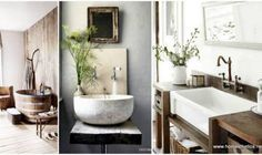 Bathroom modern rustic decor with natural stone wall design rustic Rustic Chic Bathrooms, Unusual Bathrooms, Rustic Bathroom Decor, Vintage Bathrooms, Beautiful Bathrooms, Farmhouse Decor, Contemporary Bathroom Designs, Best Bathroom Designs, Bathroom Design Small