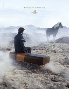 Metamorphosis, an Hermes Story. Les Nécessaires d'Hermès – Cheval-d'arçons in Essentiel bullskin. Hermès 2014 autumn-winter campaign. #hermes #home