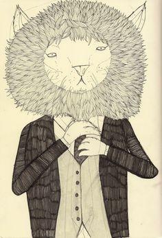 'Lion in a Suit'  http://www.facebook.com/davidlitchfieldillustration
