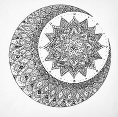 Moon mandala (tattoo n art inspo) Plus