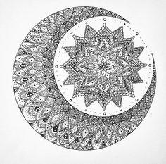 Moon mandala (tattoo n art inspo)