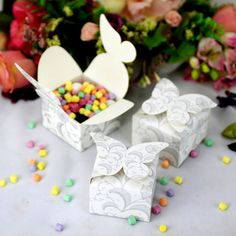 24 x Mini Butterfly Party Favour Boxes- Party Gifts and Favours