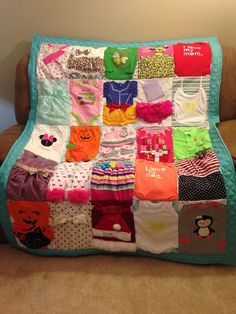 Excited to share this item from my shop: Custom memory quilt baby clothes keepsake custom quilt choice of outfits Crochet Baby Clothes Boy, Baby Clothes Blanket, Baby Sewing, Baby Memory Quilt, Baby Rag Quilts, Memory Quilts, Recycle Old Clothes, Keepsake Quilting, Baby Memories