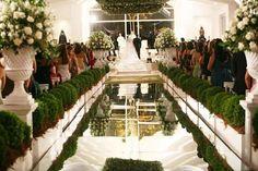 Gláucia Aguilar: Casamento: Tapete de espelho