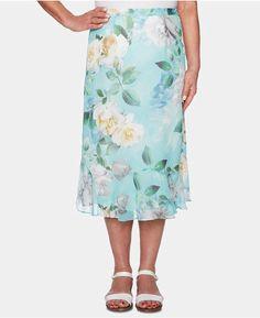 a617962187 Alfred Dunner Petite Versailles Printed Midi Skirt Skirt Online