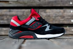 sports shoes 9175f 85359 Saucony Grid 9000 Black Red