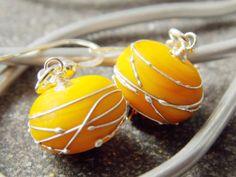 Earthen Dandelion Earrings  -SOLD-