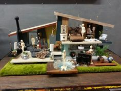 Mid Century Dollhouse | Rare Mid-Century Doll House One of A Kind Architectural Model. $3,100 ...