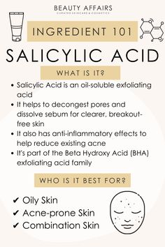 Oily Skin Care, Healthy Skin Care, Face Skin Care, Face Care Routine, Skin Care Routine Steps, Salicylic Acid, Skin Tips, Skincare Routine, Skin Treatments