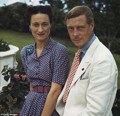 SirEdward VIII and Wallis Simpson, the Duchess of Windsor, outside Government House in Nassau, the Bahamas in 1942