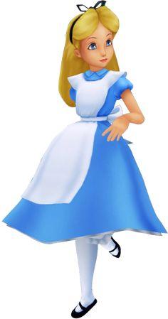 Alice as she appears in Kingdom Hearts