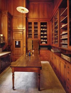Now we're talking - a designer pantry! Blank studied the original Ogden Mills pantry designed by Stanford White.
