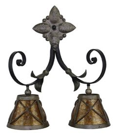Iron Sconce with Mica Shades by Hacienda Lights and Iron