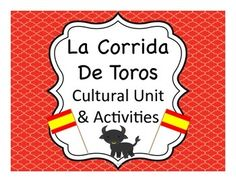 Running of the Bulls and Bullfighting cultural activities for Spanish students - even has a board game - fun!