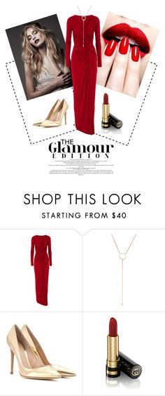 """Glam Red Dress"" by alice1024 on Polyvore featuring BAILEY, Donna Karan, Luv Aj, Gianvito Rossi, Gucci, women's clothing, women's fashion, women, female and woman"